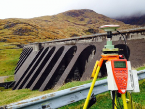 Topographic site works at Cruachan Dam